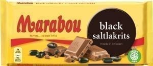 marabou black licorice bar