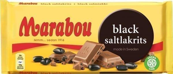 marabou black licorice bar