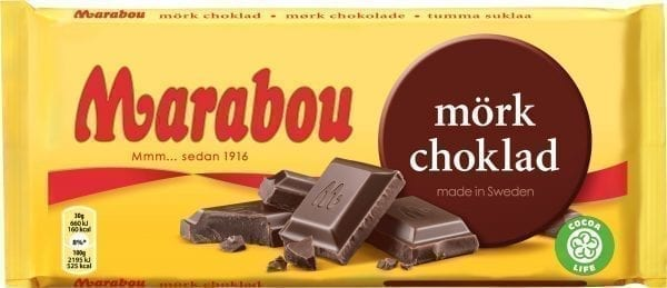 marabou dark chocolate bar