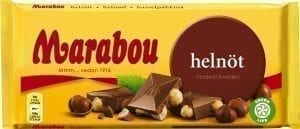 marabou hazelnut chocolate bar