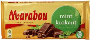 marabou mint chocolate bar