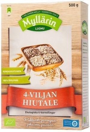 myllarin organic four grain cereal flakes