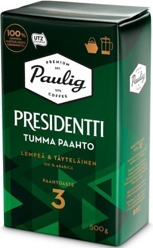 presidentti dark roast coffee