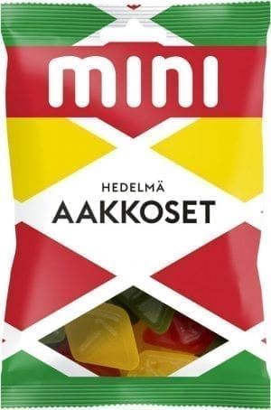 aakkoset fruit candies