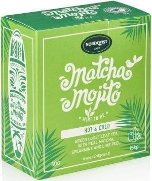 hot and cold matcha mojito tea