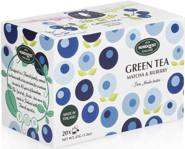 green tea with matcha and bilberry