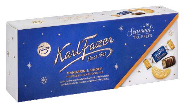 mandarin ginger chocolate truffles