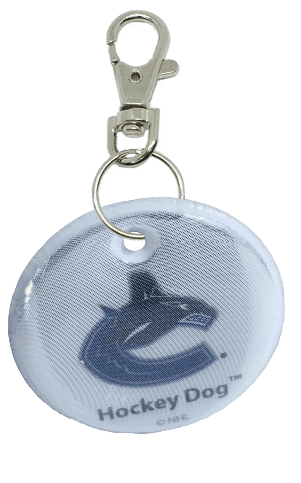 round canucks hockey dog tag