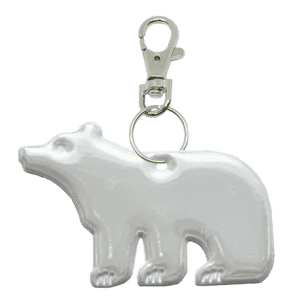 white spirit bear reflector