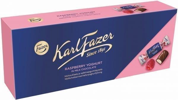 raspberry yogurt chocolate box
