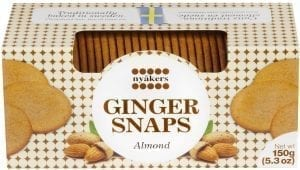 almond ginger snaps