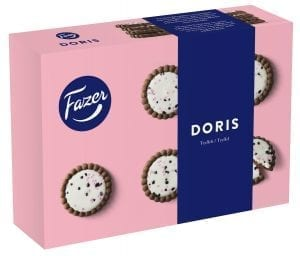 doris truffle cookie with cocoa biscuit base