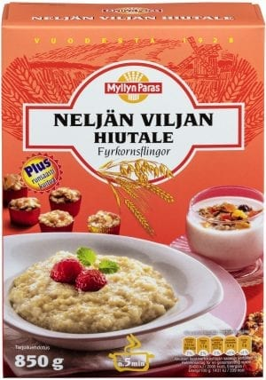 four grain cereal flakes