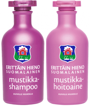 very fine finnish blueberry shampoo and conditioner