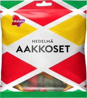 aakkoset fruit candies 315 gram bag